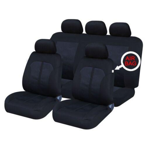 09-11 VAUXHALL AGILA FRONT /& REAR CAR FULL SET SEAT COVERS CLOTH BLACK
