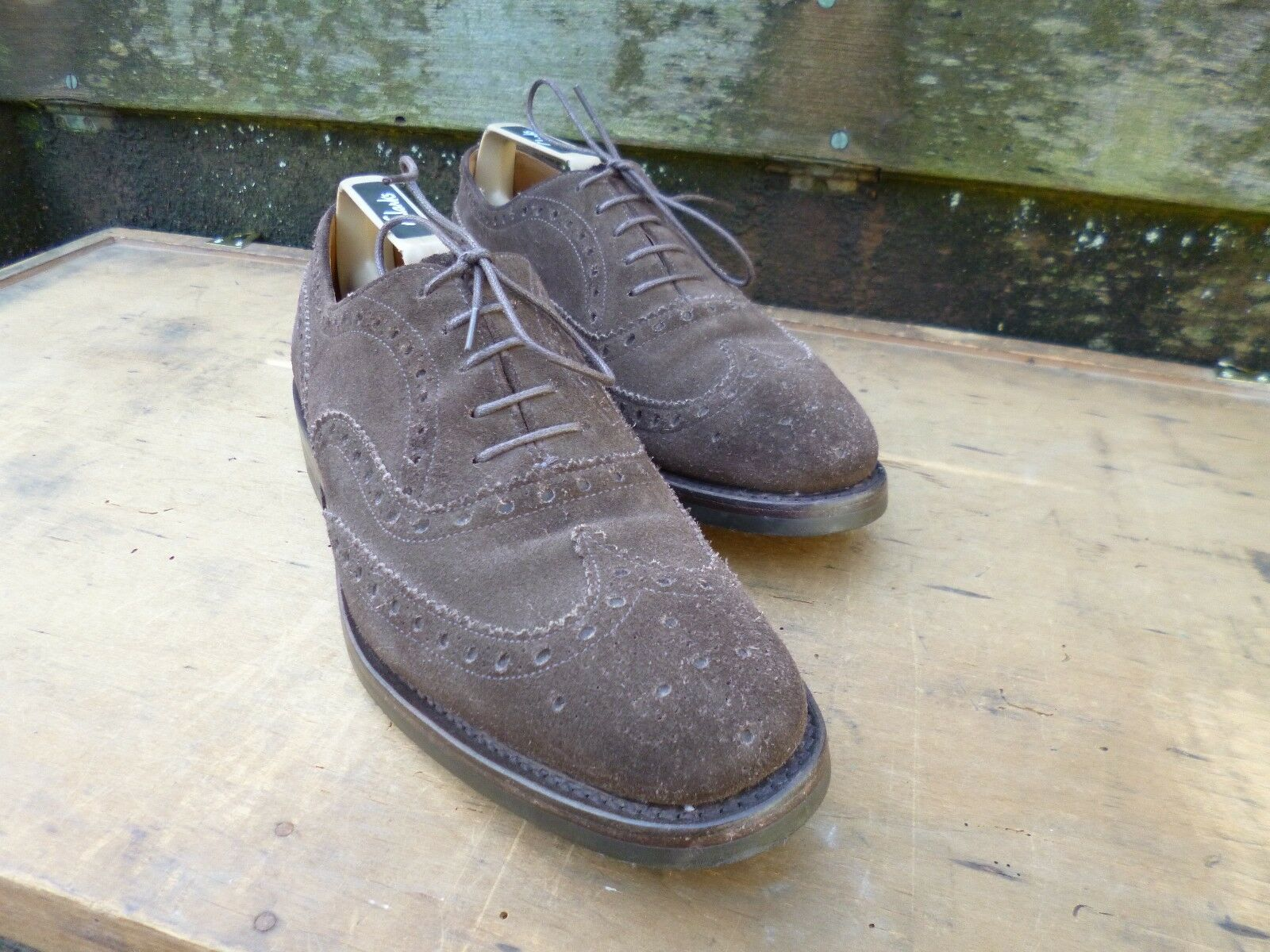CHURCH BROGUES – BROWN SUEDE - UK 7 – ASHBY - EXCELLENT CONDITION