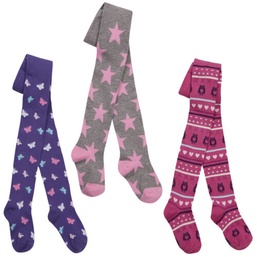 GIRLS TIGHTS ALL OVER PRINT PATTERN 2-8 YEARS COTTON RICH TIGHTS #7 BNWT