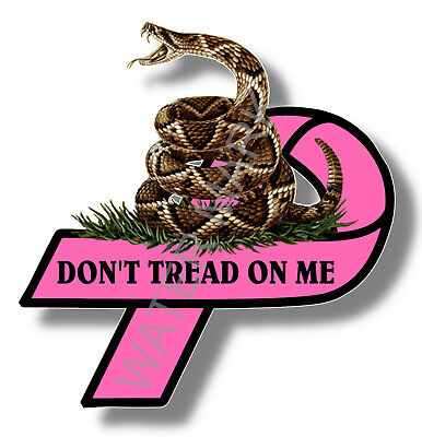 Breast Cancer Awareness Sticker Don/'t Tread on Me Gadsden flag Car Truck Window