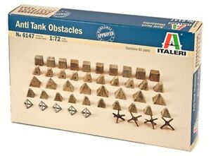 Italeri 1:72 - 6147, Panzerabwehr Hindernisse, Modellbausatz unbemalt,Plastikmod