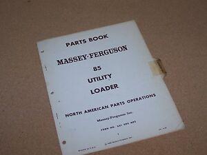 ORIGINAL-MF-85-UTILITY-LOADER-FOR-MASSEY-FERGUSON-TRACTOR-PARTS-BOOK-MANUAL