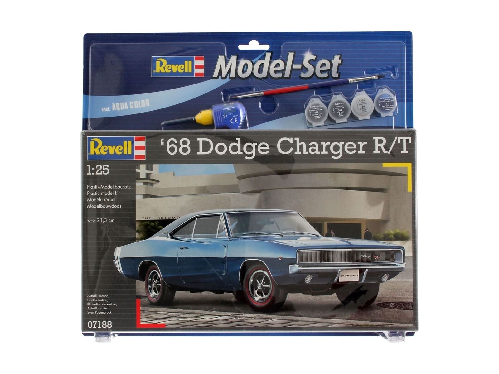 Revell - 1968 Dodge Charger 1 25 Model Set - REV67188