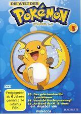 DIE WELT DER POKEMON 5   1. Staffel / 13-15    DVD #ZZ   Pokémon