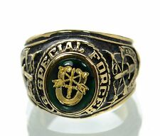 Made in USA Men's US Special Forces Gold Plated Military Ring Size-10 '