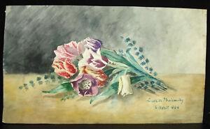 Bouquet De Roses Lucie De Boissoudy Fille Du Vice Amiral Philippe Baucheron 1886 I9i963ex-10103649-882433139