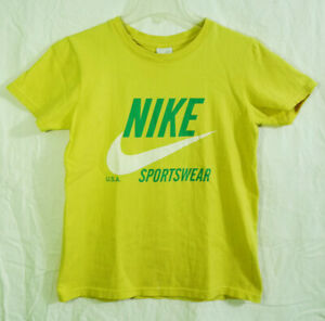 nike sportswear yellow shirt