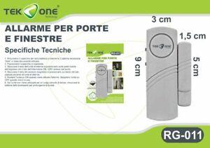 Allarme-Sensore-Magnetico-TeKone-RG-011-Antifurto-Acustico-Porte-Finestre-hsb