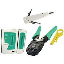 Network LAN Kit RJ45 CAT5E RJ11 PC Cable Tester Crimping Crimper Punch Down Tool