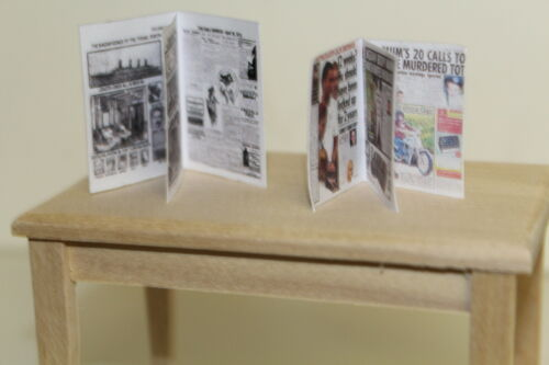 Dolls House 2 realizzato a mano leggibile giornali = SPECCHIO SOLE//