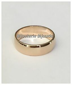 Bague-Alliance-epaisse-Plaque-or-18-CARATS-750-1000-5-Microns-Bijoux-Homme-Femme