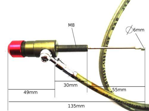 HMParts Dirt Bike Monkey Kupplungszug hydraulisches Kupplungs Set 1200 Schwarz