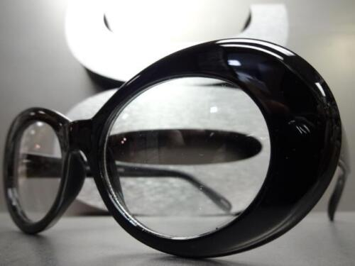 Men or Women VINTAGE RETRO Style Clear Lens Eye Glasses Black Oval Fashion Frame