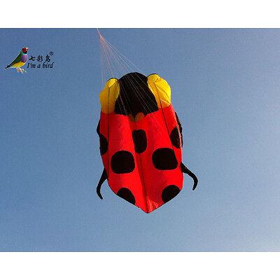 2.3m NEW Single line Software Power Ladybug Kite Outdoor fun Sports novel Toys