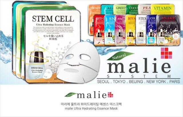 16 Pieces Ultra Hydrating Moisture Essence Facial Sheet Face Mask Korea Cosmetic
