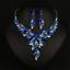 Women Fashion Bib Choker Chunk Crystal Statement Necklace Wedding Jewelry Set