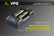 XTAR VP2 18650 16340 Premium LED Display Lithium Battery Charger