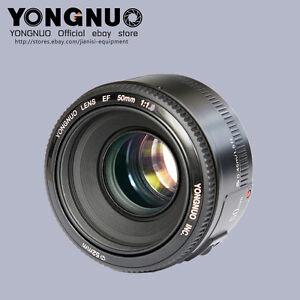 Yongnuo-YN-ef-50MM-F-1-8-Lente-de-enfoque-automatico-y-Manual-para-Canon-EF-EOS-camara-de-montaje