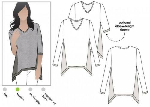 MLTB011S-M Free UK P/&P FP Style Arc Ladies Sewing Pattern Bianca Top