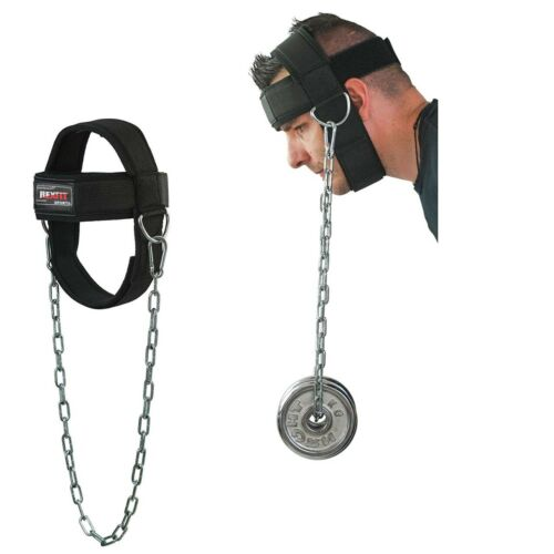 REX Fit Head Harness Neck Support Best Neck Exerciser for Lifting with Chain