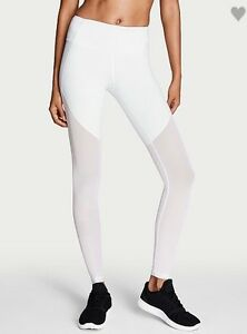 low cost various colors special sales Details about Victoria's Secret Sport Knock out Tight legging yoga pants  white mesh clear M