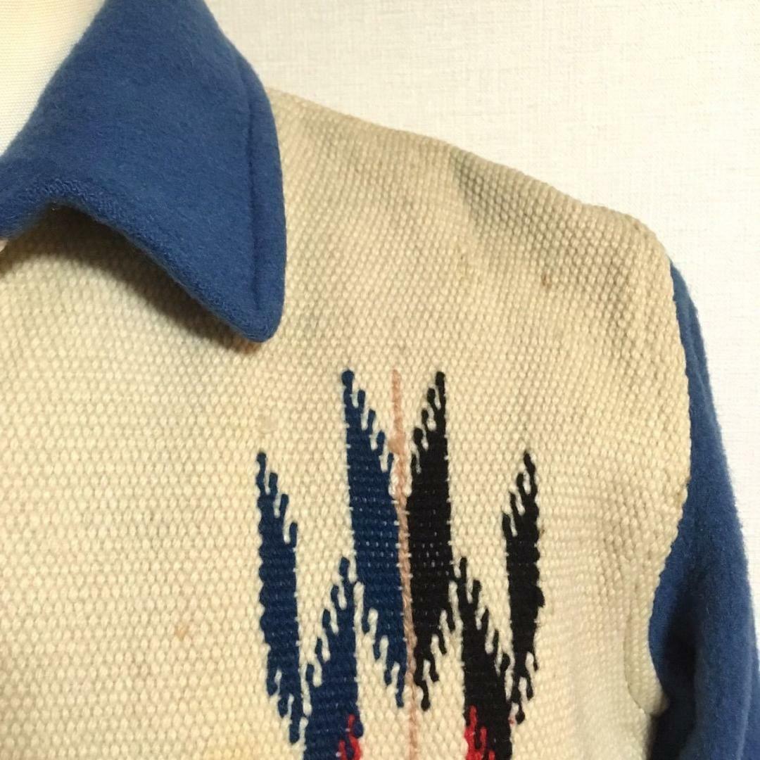 Ganscraft Vintage Chimayo Jacket Turquoise blue x… - image 5