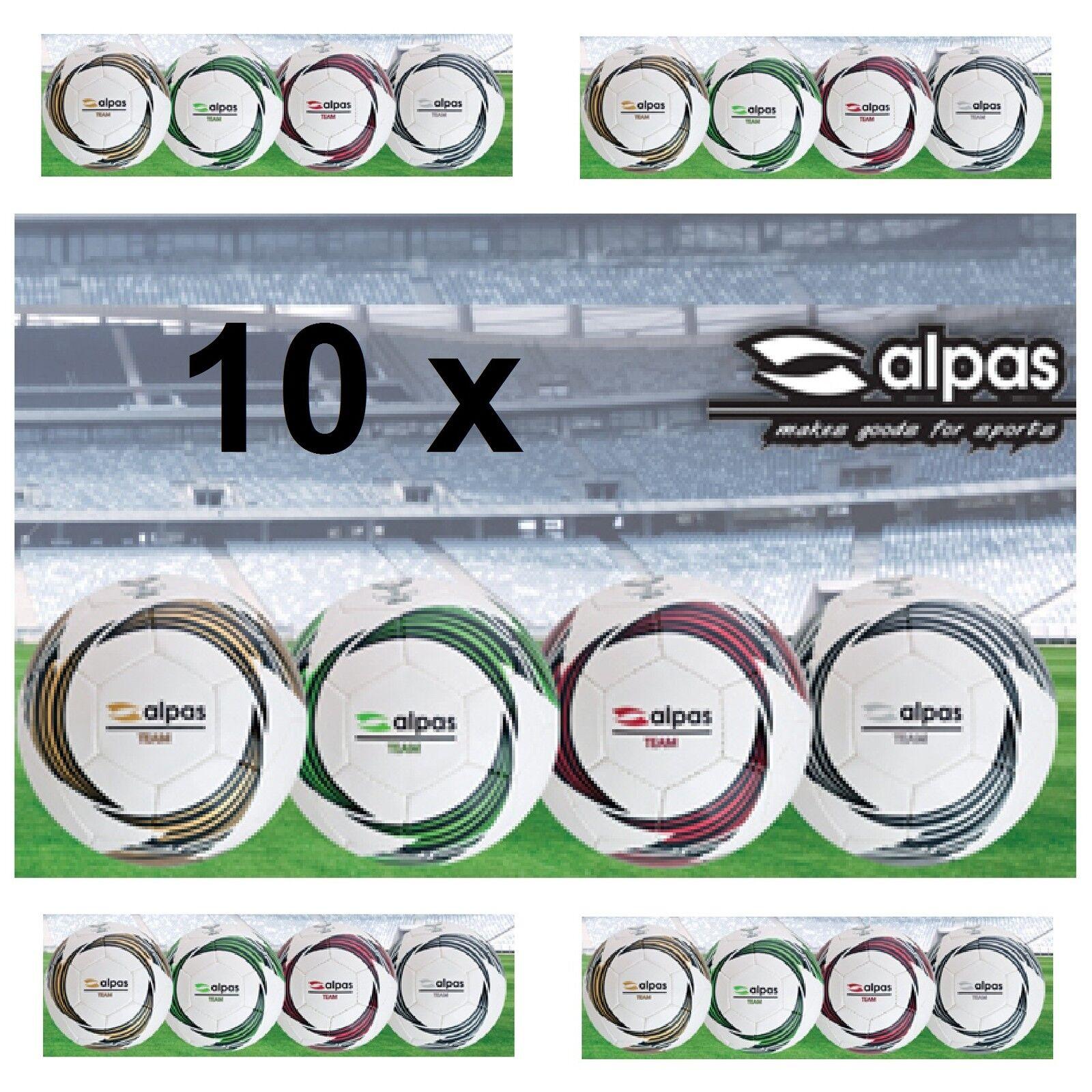 10 x ALPAS Trainingsfußball Trainingsball Fußball TEAM Größe: 3, 4 oder 5  NEU