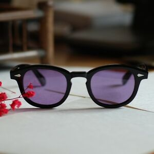 869124dcee Image is loading Retro-sunglasses-Depp-artists-mens-eyeglasses-black -acetate-