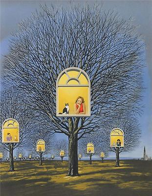 Rafal Olbinski Suspended Promises Signed Fine Art Lithograph Hand Pulled S2 Art