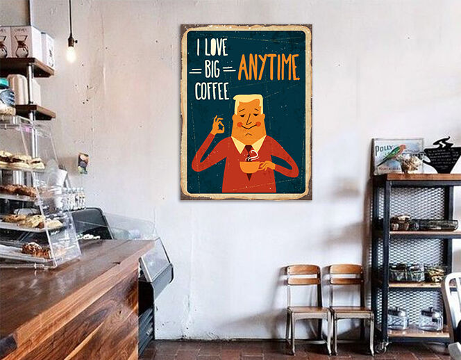 3D Niedliche Kaffee Plakat 85  Fototapeten Wandbild BildTapete AJSTORE DE Lemon