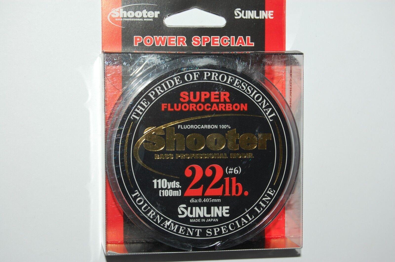 Sunline super 100% flugoldcarbon shooter 22lb clear 110yds spool fishing line