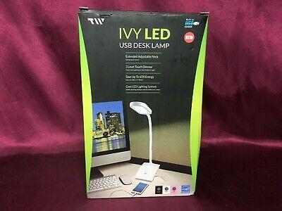 IVY-40 LED USB Desk Lamp With USB Charging Port