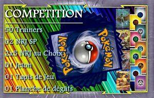 Lot-Creation-Deck-Pokemon-50-Dresseurs-2-NRJ-SP-2x5-NRJ-1Jeton-Tapis-Marqueurs