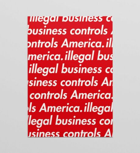 Supreme Illegal Business poster art print limited A4 A3 A2 wall art RED