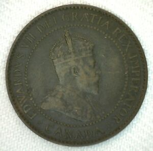 1904-Canada-One-Cent-Coin-1c-Large-Cent-Bronze-You-Grade