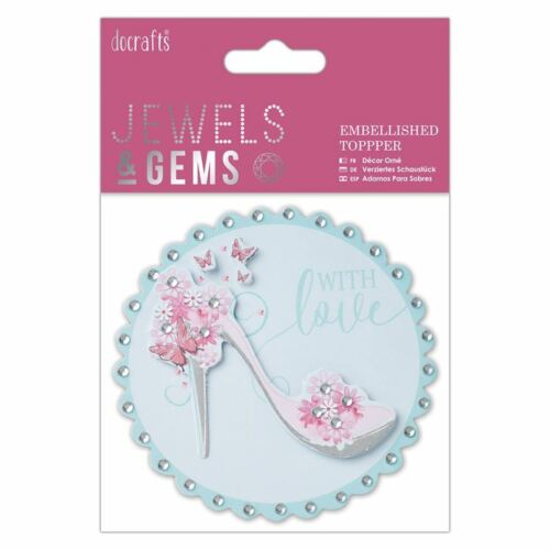 -Jewels /& Gems for cards//craft Do-crafts Embellished Topper With Love Shoe