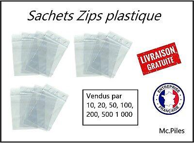qualité pro Lot 500 Sachets ZIP 120x180 pochettes sacs plastique transparents