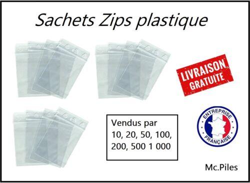 Sachet ZIP 180x250 sacs plastique pochons transparents qualité pro pochettes