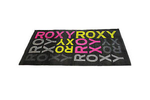 2362e43e38e La imagen se está cargando GENUINO-ROXY-MUJER-TOALLA-PLAYA-ROXY -LOGO-ESTAMPADO