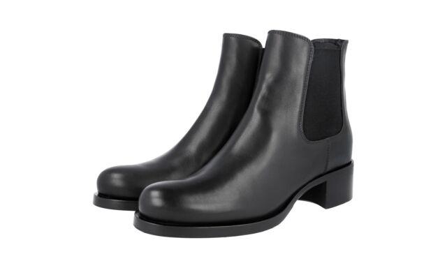8fe63923b4e Auth Luxury PRADA Chelsea Boot Shoes 1t186g Black 41 41 5 UK 8