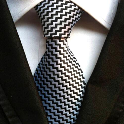 Details about  /Wedding Men/'s Tie Novelty Striped Classic Silk Jacquard Woven Business Necktie
