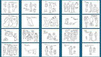 model sheets character guide A14 Superfriends  Superman 107 BW mds
