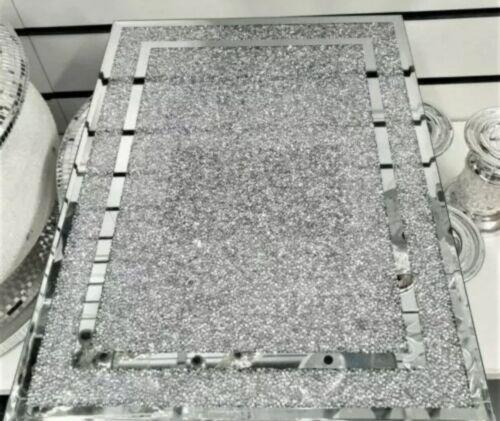 Nouveau Design Argent Grande Diamond écrasé cristal remplis à découper Serving Board ✨