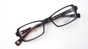Brillenfassungen Dynamisch Schwarze Weiße Brille Gestell Plastik Klein Eckig Eyeglasses Ceci Damen Grösse S Herausragende Eigenschaften