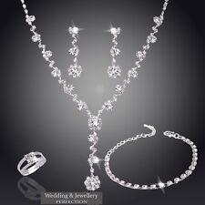 Item 6 Wedding Jewelry Set Bridal Jewellery Crystals Necklace Earring Bracelet Ring New
