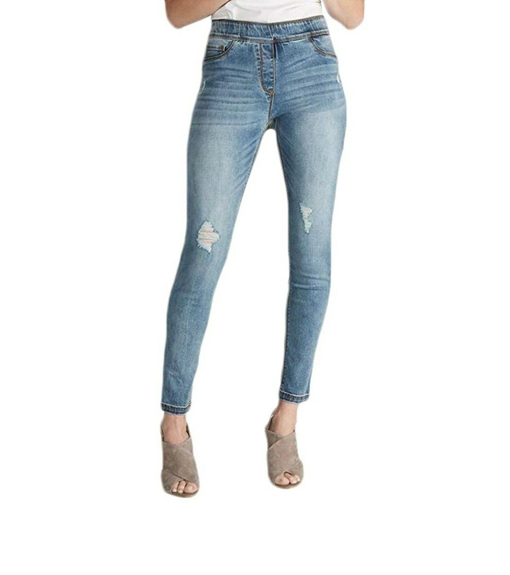 Coco and Carmen OMG Skinny Jeans in Light Distressed Denim