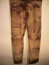 "Designer ROBERTO ""Just"" CAVALLI Men's Brown Suede Leather Trousers Waist 36"""