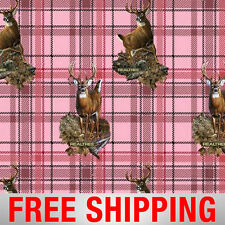 """Fleece Fabric Deer Pink RealTree Anti Pill 60"""" Wide Free Shipping Style 1464-2"""