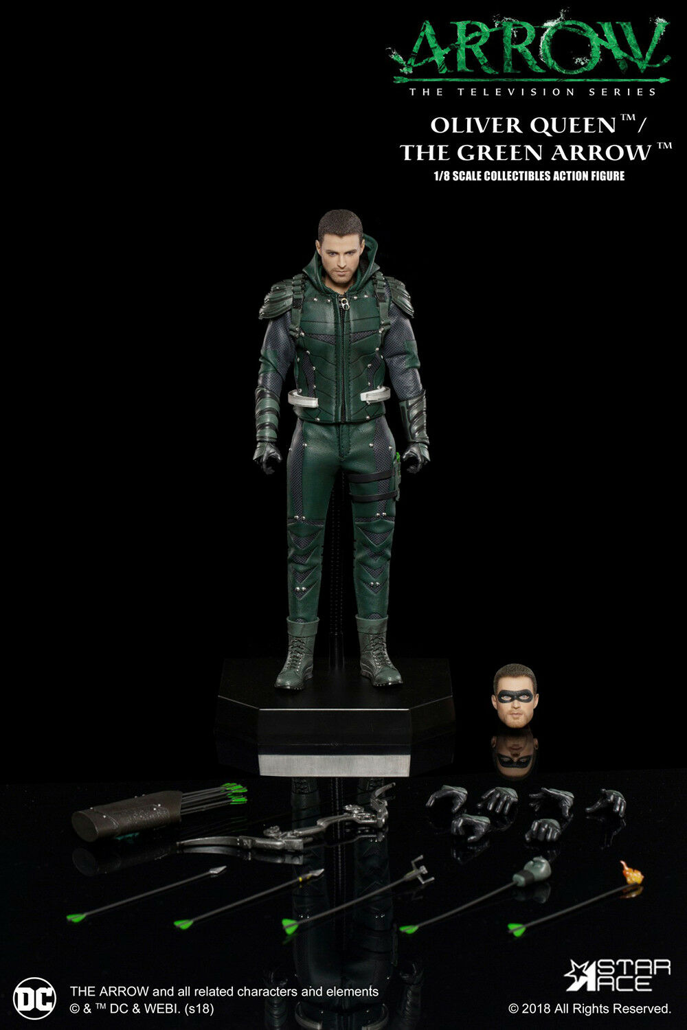 Star Ace 1 8 CW TV Arrow Figure Oliver Queen Deluxe Figure MIB