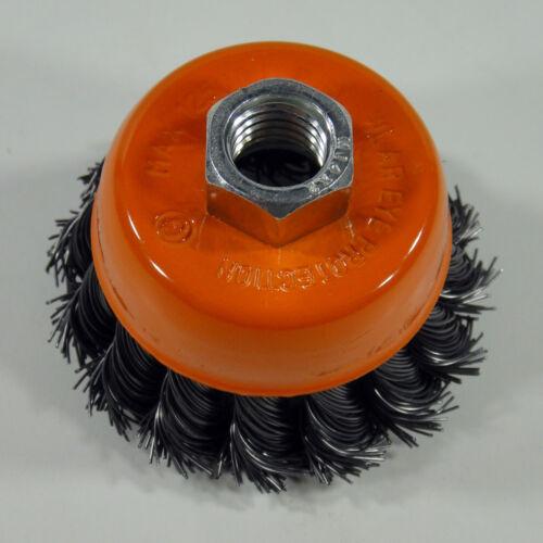 Topfbürste Drahtbürste Bürste Ø 65 mm gezopft M14 für Winkelschleifer
